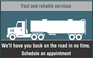 Fast and reliable services. We'll have you back on the road in no time.